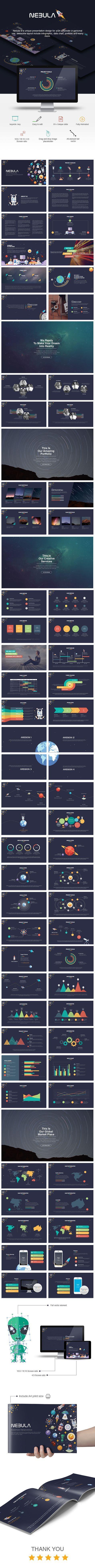 Nebula Keynote Presentation Template #design #slides Download: http://graphicriver.net/item/nebula-keynote-presentation/13816962?ref=ksioks