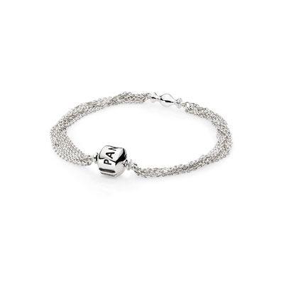Armband PANDORA | Ketting, sterling zilver, voor 1 clip