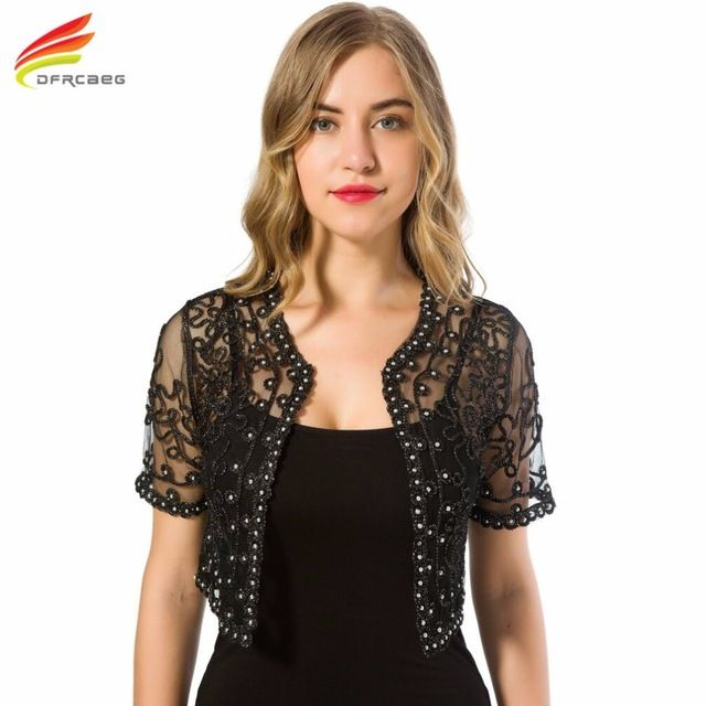 Deal Today $10.83, Buy Women Basic Coat 2017 Summer Style Women Perspective Shawl Fashion Hollow Out Lace Boleros Short Sleeve Coats Jackets Female