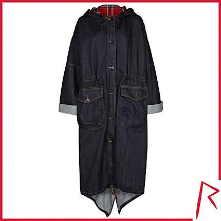 #RihannaforRiverIsland LIMITED EDITION Dark wash Rihanna denim trench coat. #RIHpintowin click here for more details >  http://www.pinterest.com/pin/115334440431063974/