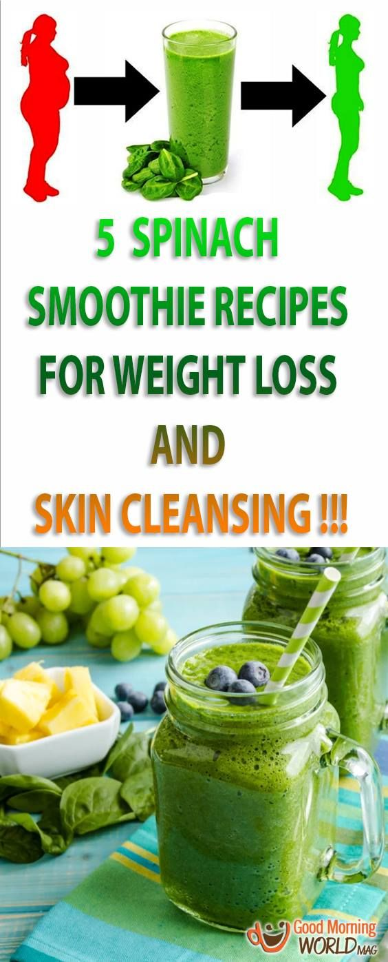 5 Spinach Smoothie Recipes for Weight Loss, Illness Prevention and Skin Cleansing