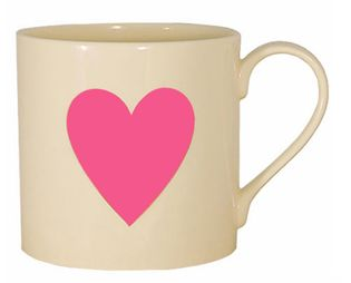 Cute pink heart mug