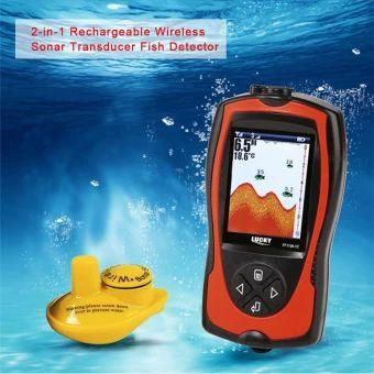 อย่าช้า  LUCKY Portable 2-in-1 Rechargeable 2.4inch LCD Wireless SonarTransducer Depth Locator ICE Ocean Boat Fish Finder Alarm FishDetector - intl  ราคาเพียง  2,491 บาท  เท่านั้น คุณสมบัติ มีดังนี้ Wireless, no more long & heavy cable for transducer.Rechargeable, the LCD includes 3.7V rechargeable lithium batteries.2.4inch TFT color LCD, pixels: 240V * 960H. Sensitivity, zoom, units, depth range, shallow alarm, language,brightness, fish icon, fish alarm and chart speed settings. English…