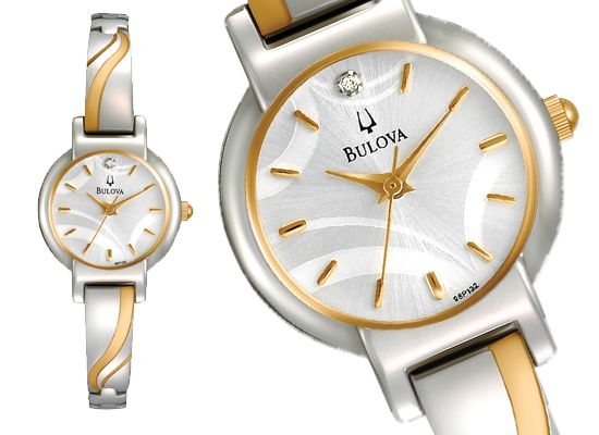 $79 for Bulova Women's Watch: Petite Bracelet/Two-Tone Band/Mother-of-Pearl Dial (98P132) ($225 List Price)