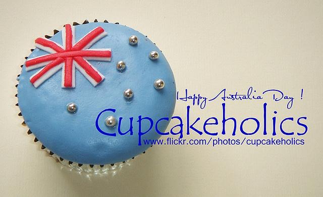 Australian flag cupcakes