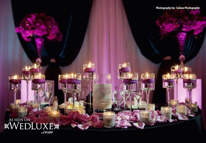 136 best bling sweetheart tables images on pinterest for Table design for debut