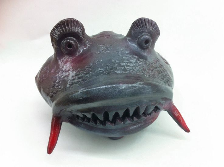 Fish Head sculpture