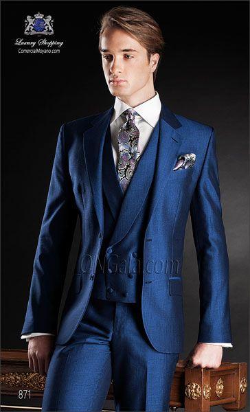 Traje de novio azul 871 ONGala Wedding suit