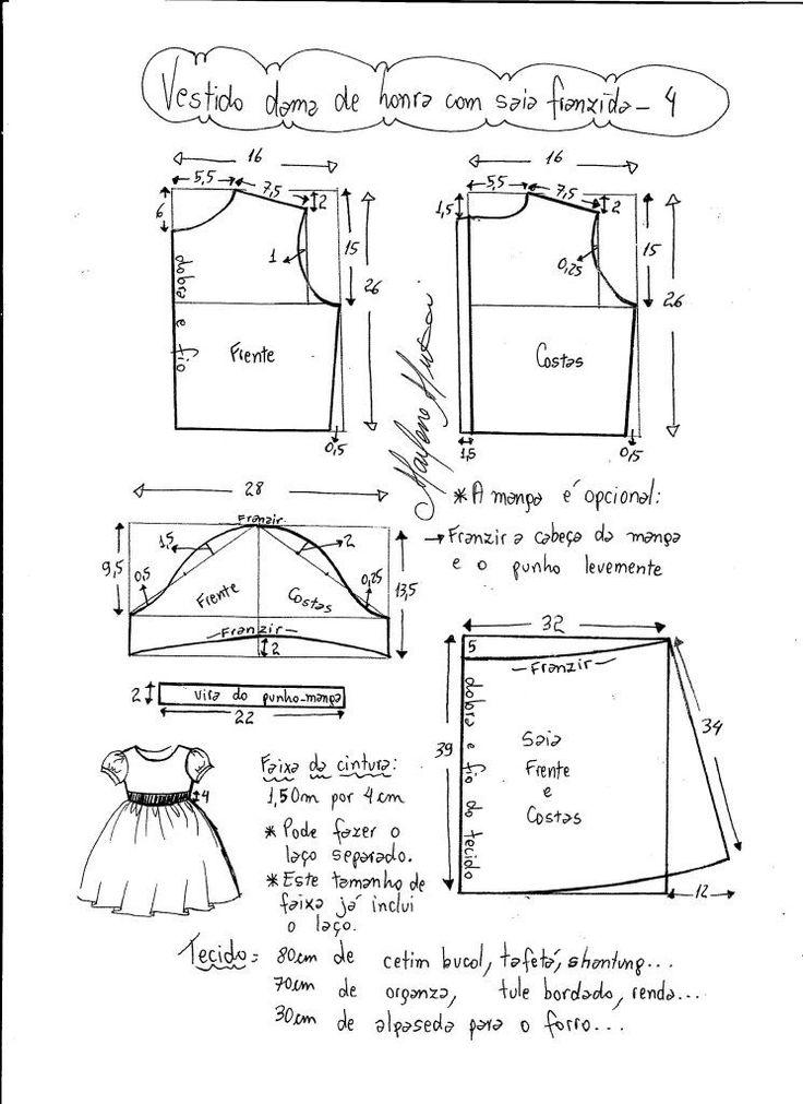 vestido damita de honor talla4