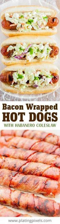 Barbecue bacon wrapp Barbecue bacon wrapped hot dogs by Plating...  Barbecue bacon wrapp Barbecue bacon wrapped hot dogs by Plating Pixels. Topped with spicy homemade habanero coleslaw and queso blanco cheese. Grilled hot dogs wrapped in crispy bacon. Best tailgate food. - www.platingpixels #KingofFlavor [ad] El Yucateco Sauces Recipe : http://ift.tt/1hGiZgA And @ItsNutella  http://ift.tt/2v8iUYWwww.platingpixels #KingofFlavor [ad] El Yucateco Sauces Recipe : http://ift.tt/1hGiZgA And…
