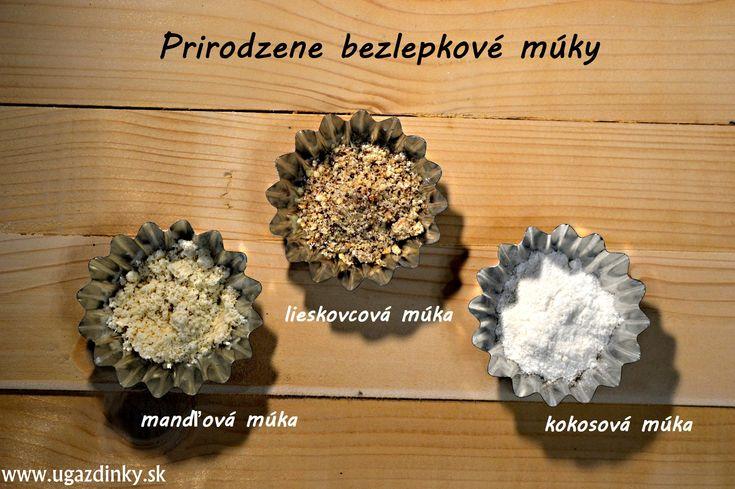 Prirodzene bezlepková mandľová, kokosová a lieskovcová múka