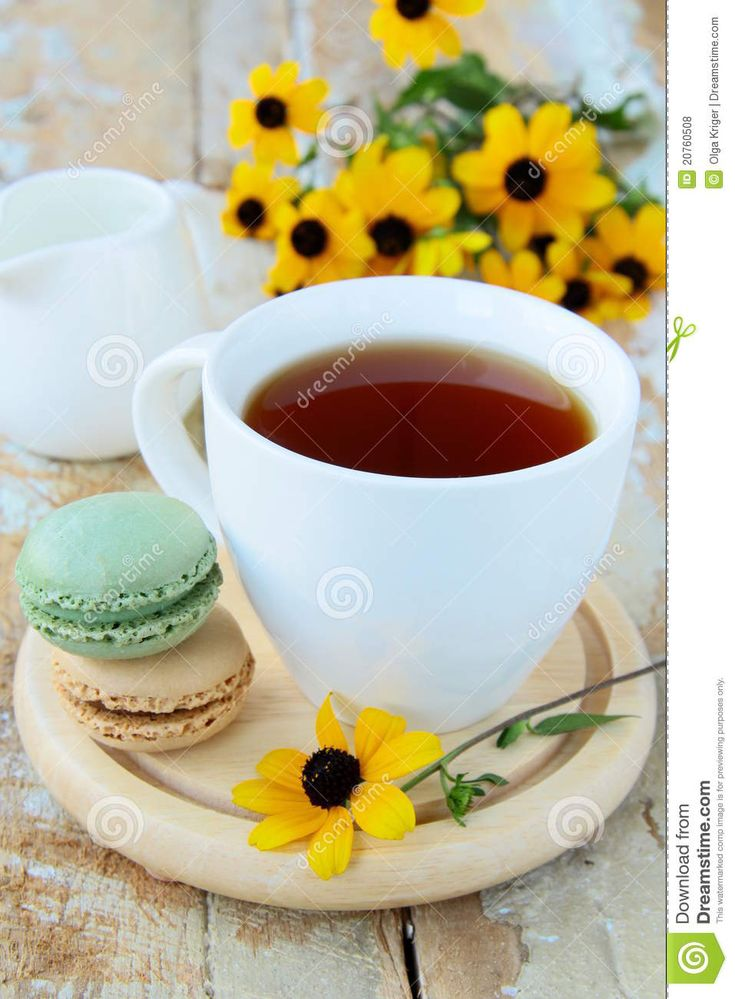 French Dessert Macaroons And Tea Stock Photo - Image of sweet, biscuit: 20760508