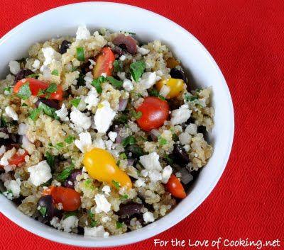 Greek QuinoiaRecipe Food, Quinoa Salad Greek, Side Dishes, Green Quinoa, Greek Recipes, Greek Quinoafor, Cooking, Greek Quinoa Recipe, Greek Quinoagonna