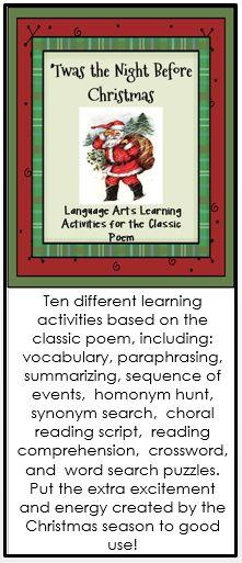 Christmas Language Arts Worksheets : Best images about christmas language arts ideas on