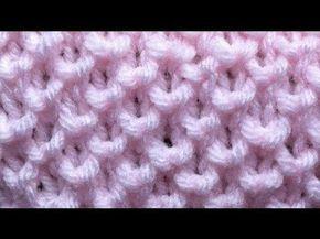 ▶ Knit Bee Stitch - YouTube