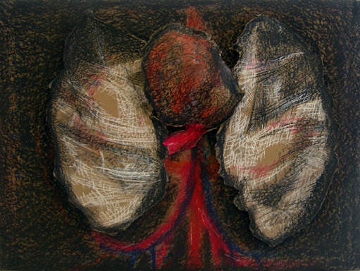 """Internals II"" Charcoal and Pastels"