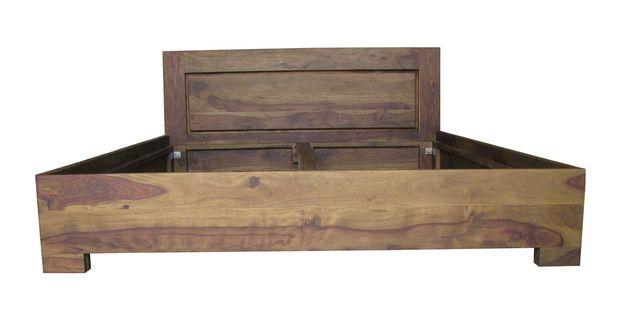 **Kolonialne Łóżko drewniane**  Drewniane Łóżko indyjskie pod materac 160 x 200cm. Łóżko kolonialne wykonane zostało z palisandru indyjskiego. Konstrukcja łóżka daje Państwu możliwość...