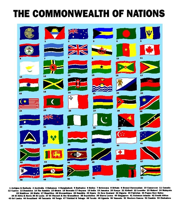 commonwealth of nations map | ... commonwealth of nations formerly known as the british commonwealth