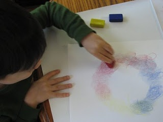 Great lesson with block crayons