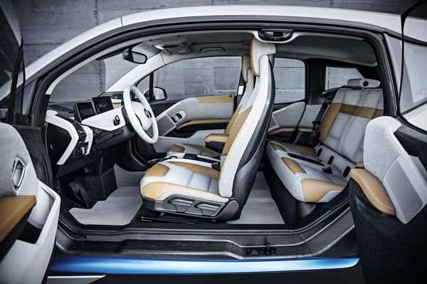 Inside Car Bmw Electric Car Car Interior Design Bmw I3 Bmw Cars