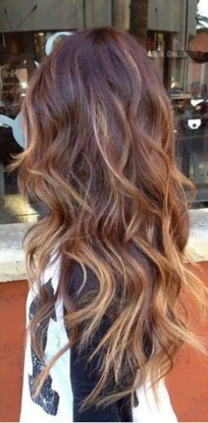 Subtle Auburn Balayage Curls Galore Pinterest