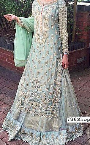 739dc5ecb1 Light Blue Chiffon Suit | Buy Pakistani Fashion Dresses and Clothing Online  in USA, UK