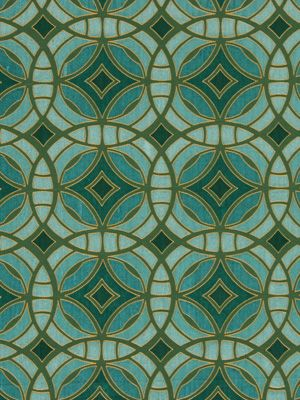 In honor of Pantone's 2013 Color of the Year - Emerald.  I love the large repeat - 7+ inches each way!   -  Beacon Hill's Tourmaline