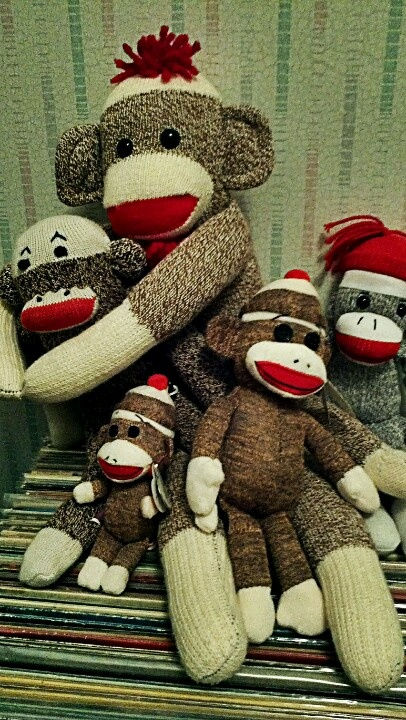 Okay...I admit it....I was one of those kids who was scared by sock monkeys!  They still give me the creeps for some reason!