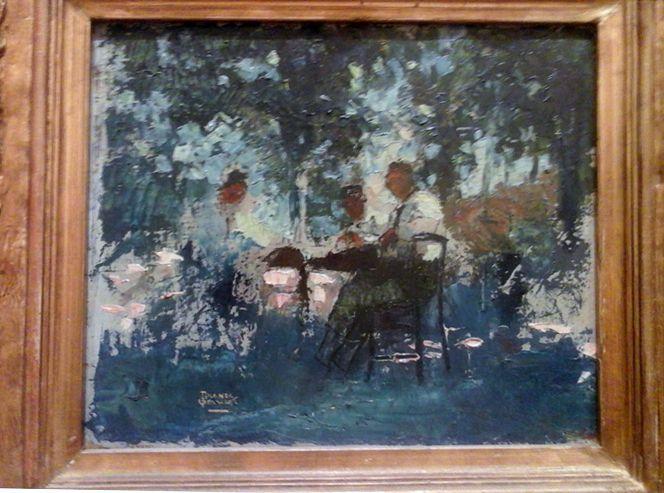 To έργο του Θεόφραστου Τριανταφυλλίδη «Στο καφενείο»…