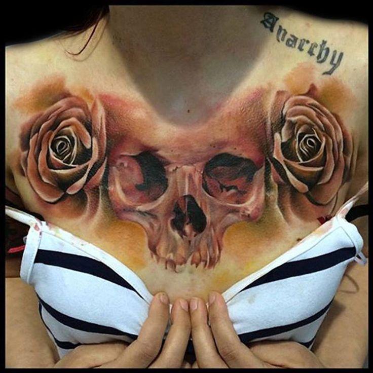 Pics Photos - Skull And Roses Rose Tattoos Funny 4576340273138308 Jpg