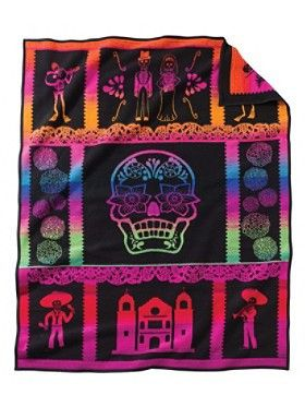 Pendleton Blanket The awesome Day of the Dead blanket only one instock. 100% wool and made in Pendletons woollen mills in the USA.  Check it out instore and online
