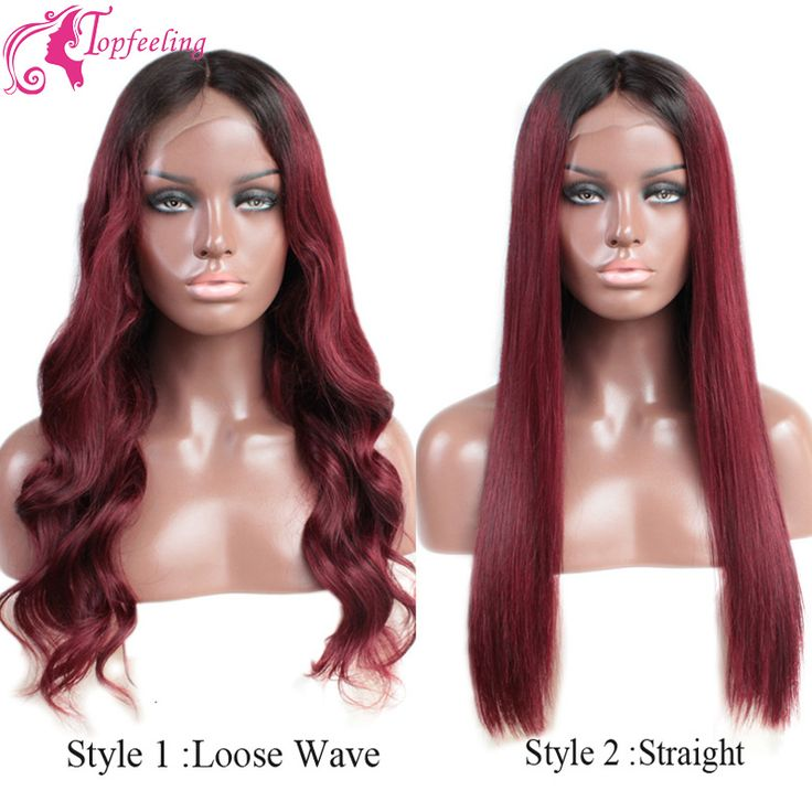 Find More Human Wigs Information about 2016 Ombre Brazilian Lace Wig Human Lace Front Wigs For Black Women #1B/Red Glueless Full Lace Wig With Baby Hair Bleach Knots,High Quality wig anime,China wigs for sale cheap Suppliers, Cheap wig ears from Top Feeling Hair  Co., Ltd. on Aliexpress.com