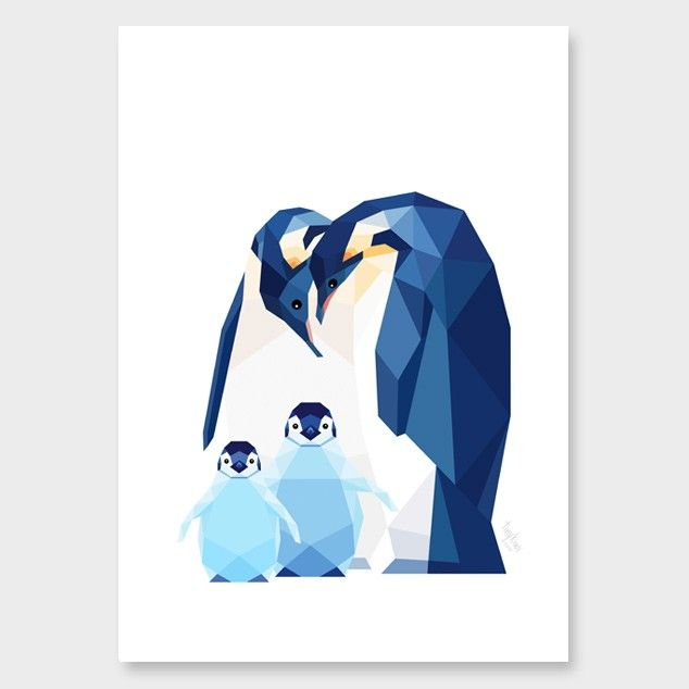 Penguins Art Print by Tiny Kiwi