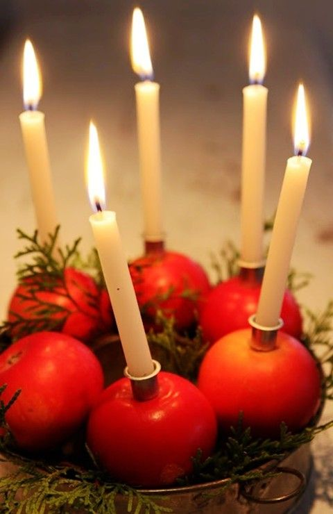 18 best images about cool christmas candles for Christmas candle displays