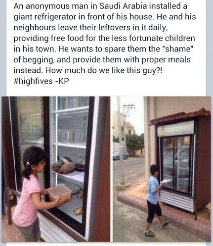 kind acts help hunger