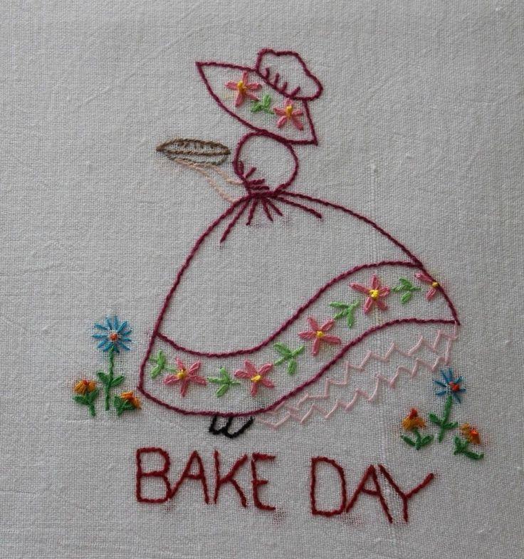 162 Best Vintage Embroidered Dish Towels Images On Pinterest