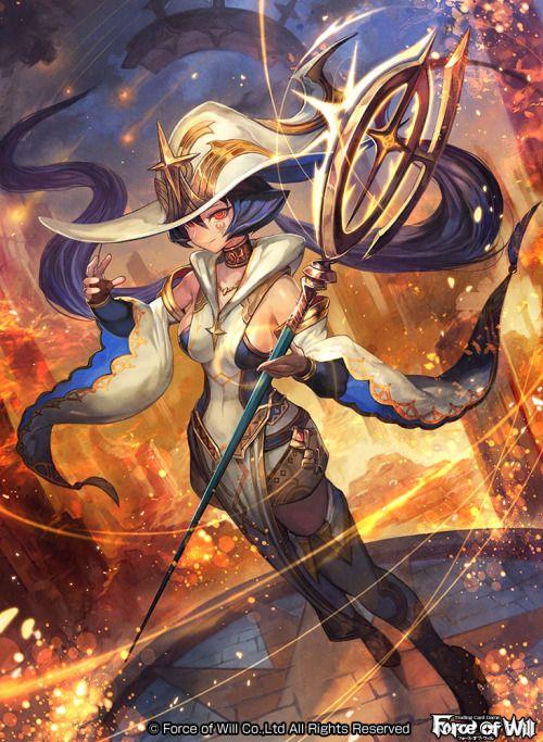 トレーディングカードゲーム Force of will にて制作させていただきました。 「閃光の魔法戦士 ゼロ 」です。  http://fow-tcg.com/