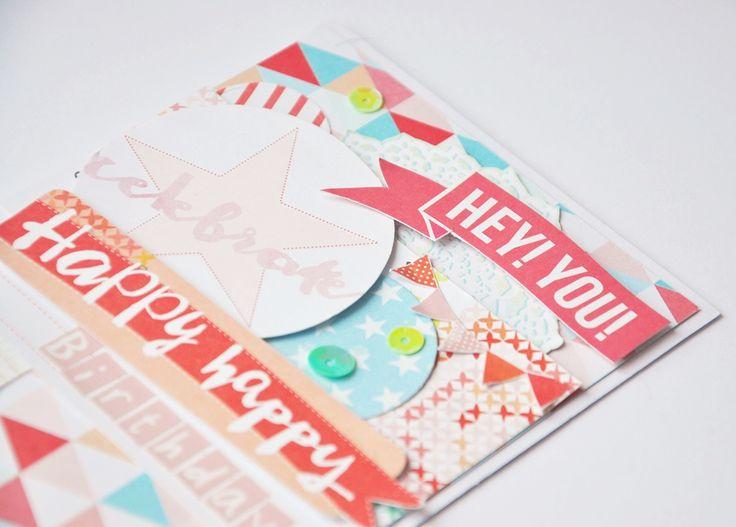 Card birthday pastel , handmade , scrapbooking , diy