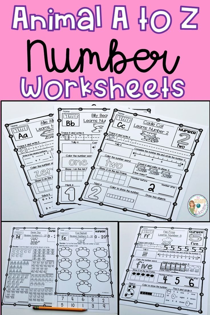 Number Worksheets 0 - 20 | All Elementary @TpT | Pinterest | Number ...
