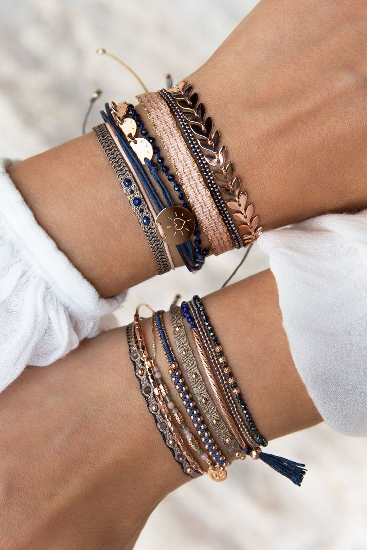 Express your individuality by mixing as you like it  ☺️✓  #bracelets #combinations #mix