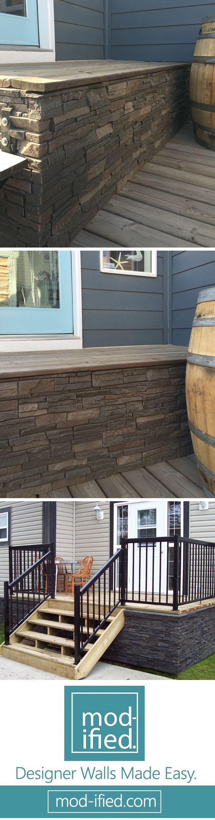 Quality Stone Faux Stone Panels can dress up your deck skirting in style.