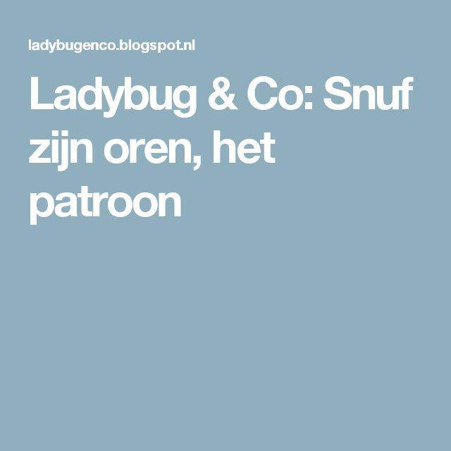 Ladybug & Co: Snuf zijn oren, het patroon