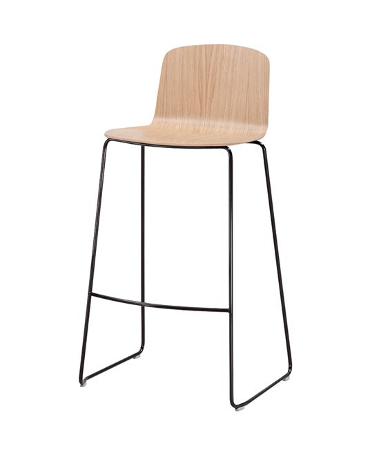 Ann 3.1 | Sandler Seating. Wood barstool/counter stool on a steel sled base. Suitable for stacking.