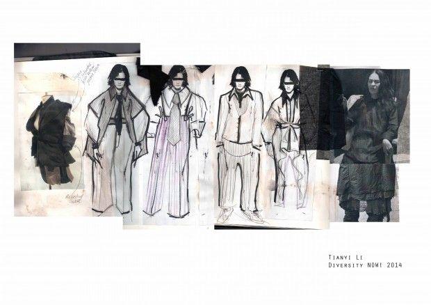 "Fashion Sketchbook - ""Diversity Now"" fashion design development; fashion sketches; fashion portfolio // Tianyi Li"
