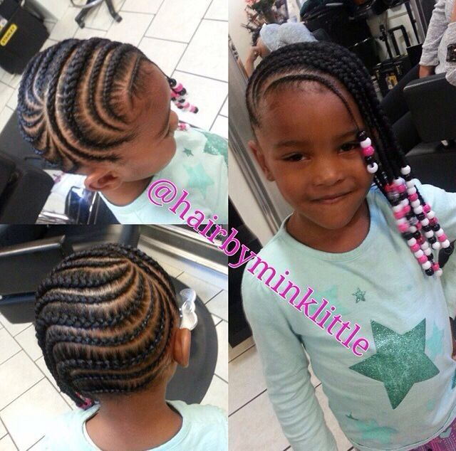 Cute Cornrows And Beads - http://www.blackhairinformation.com/community/hairstyle-gallery/kids-hairstyles/cute-cornrows-beads/ #kidshairstyles