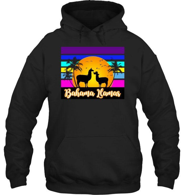 Mens Classic Pullover Hoodie Sweatshirt,just a Girl who Loves Llamas Print