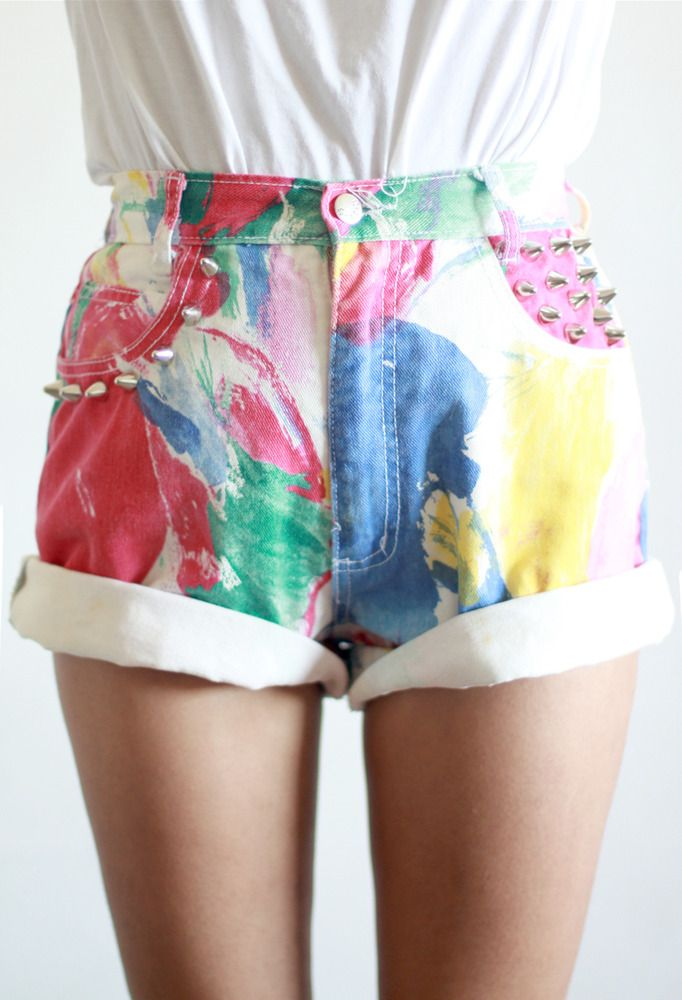 : Floral Shorts, Color Shorts, Hot Pants, Cute Shorts, Denim Shorts, Jeans Shorts, Studs Shorts, Summer Shorts, High Waist Shorts