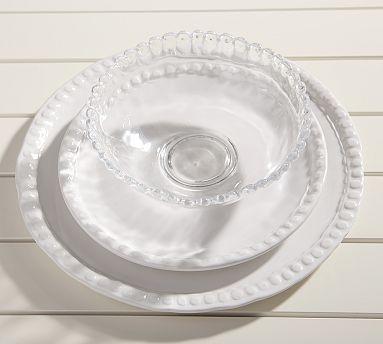 Beaded Outdoor Dinnerware, White #potterybarn