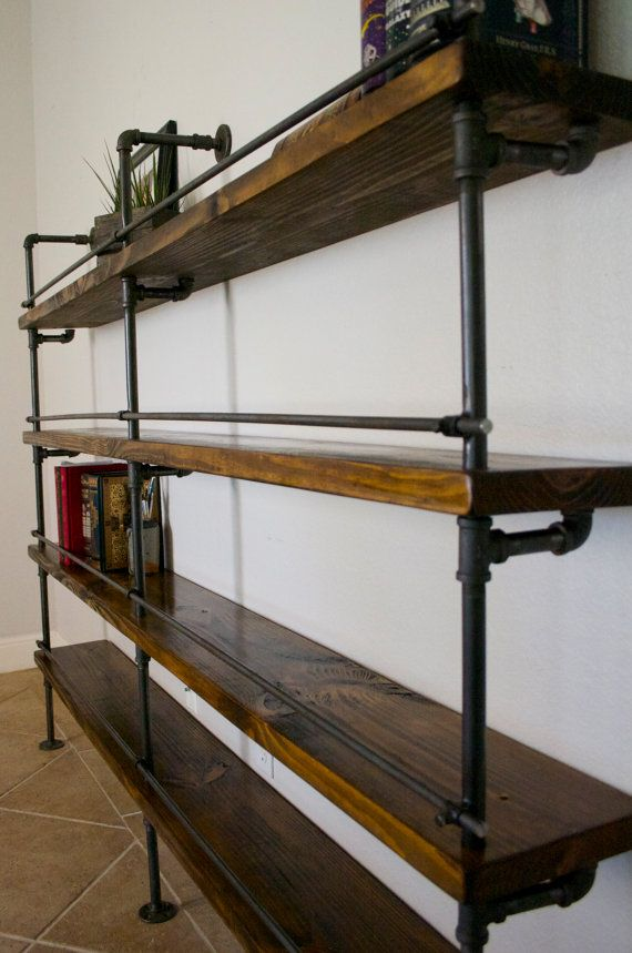 Industrial Shelving Unit Industrial Bar by IndustrialEnvy on Etsy