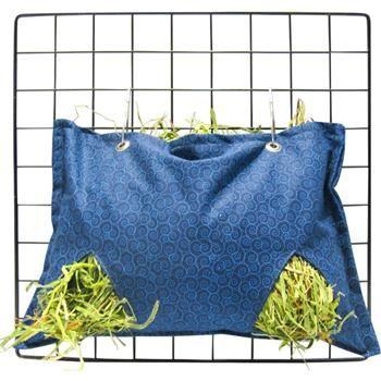 Hay Bag in Blue Scrolls Fabric